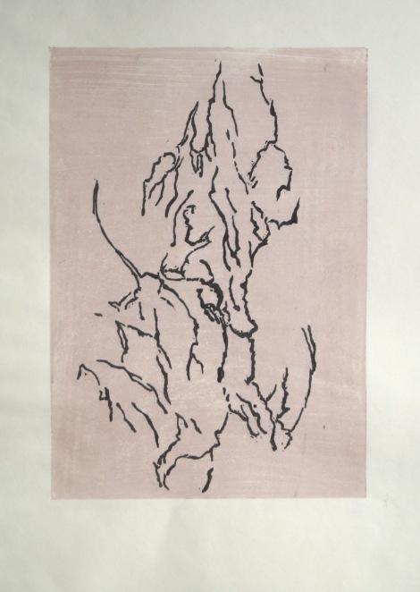 Blattwerk 2 Holzschnitt (Moku Hanga) ca. 21x29cm 2017